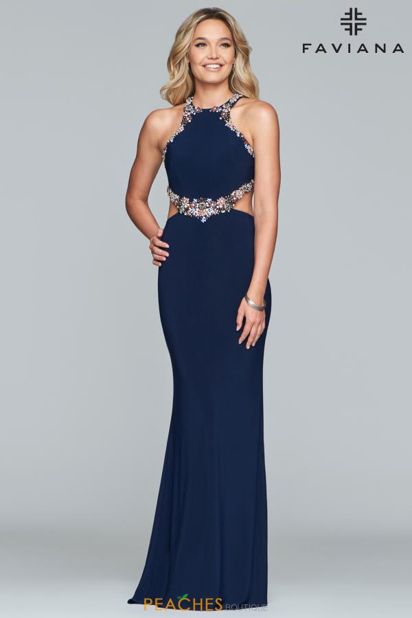 Faviana Beaded Fitted Dress S10026