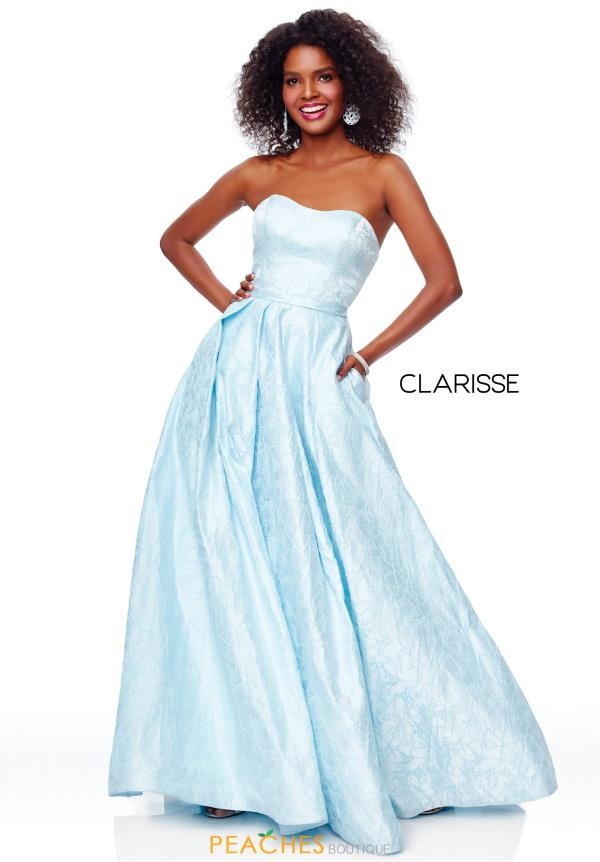 Clarisse Strapless A Line Dress 3705