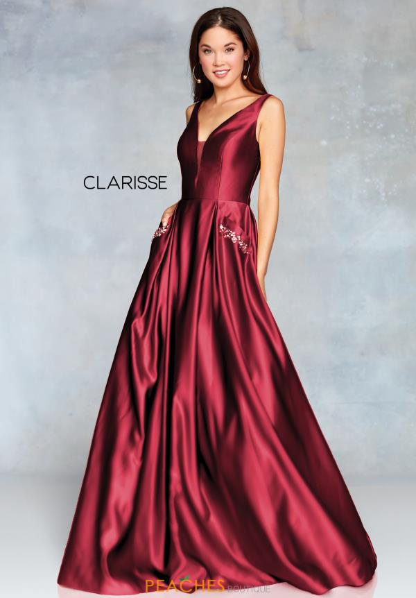 Clarisse V-Neck Beaded Dress 3741