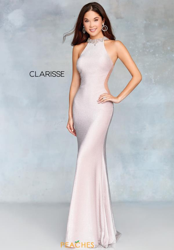 Clarisse Fitted High Neckline Dress 3745