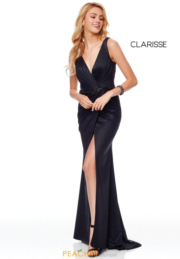 Clarisse V-Neck Fitted Dress 3787