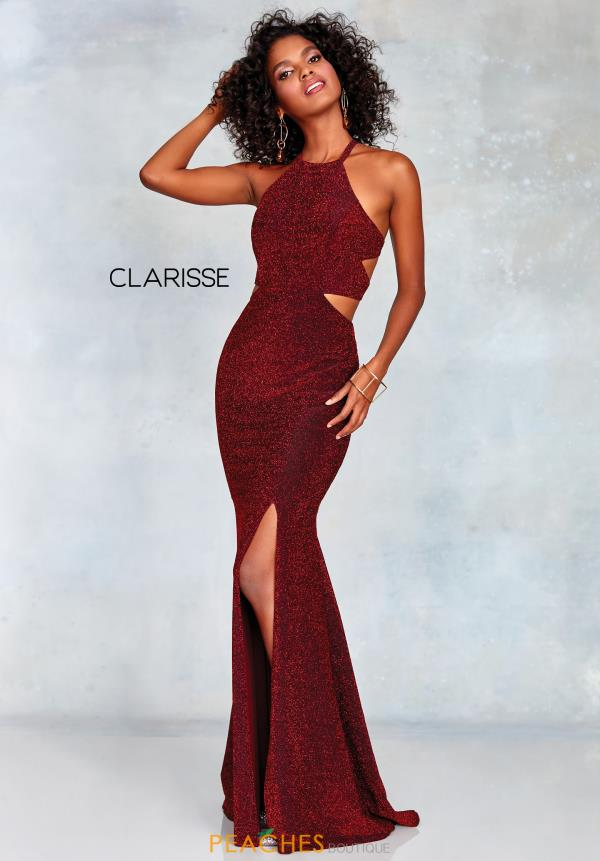 Clarisse High Neckline Fitted Dress 3789
