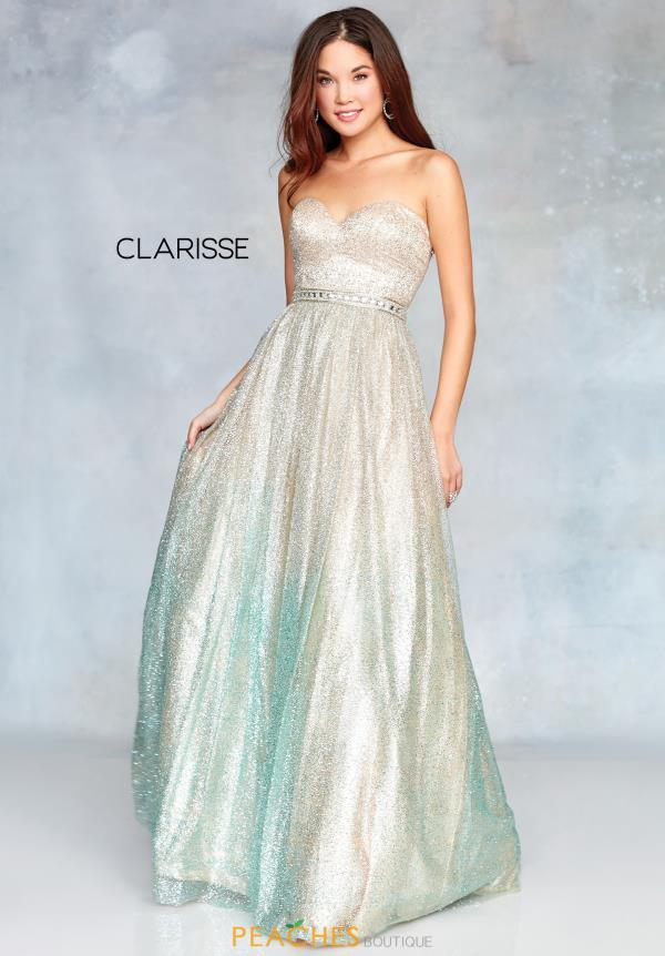 Clarisse A Line Beaded Dress 3821