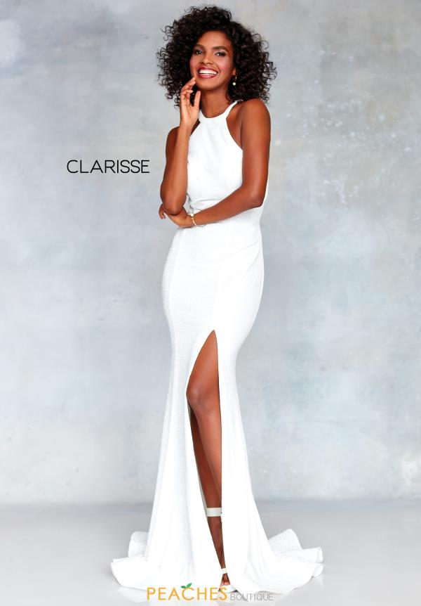 Clarisse High Neckline Fitted Dress 3830