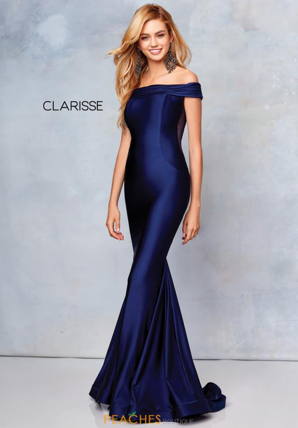 Clarisse Off the Shoulder Fitted Dress 3847