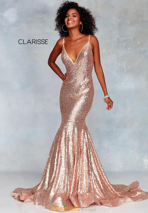 Clarisse V-Neck Sequins Dress 3882