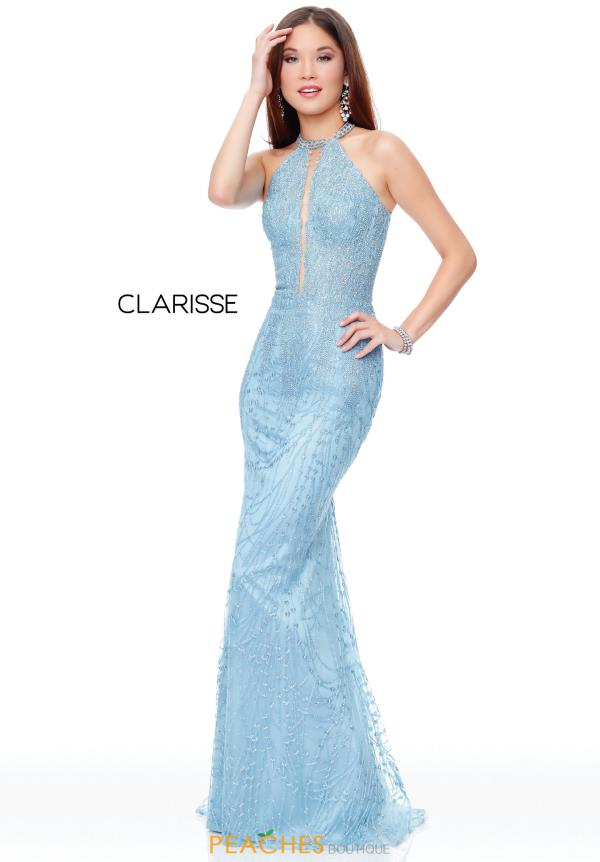 Clarisse Open Back Fitted Dress 5014