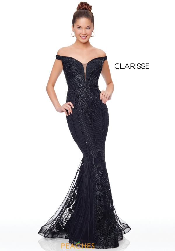 Clarisse Off the Shoulder Fitted Dress 5019