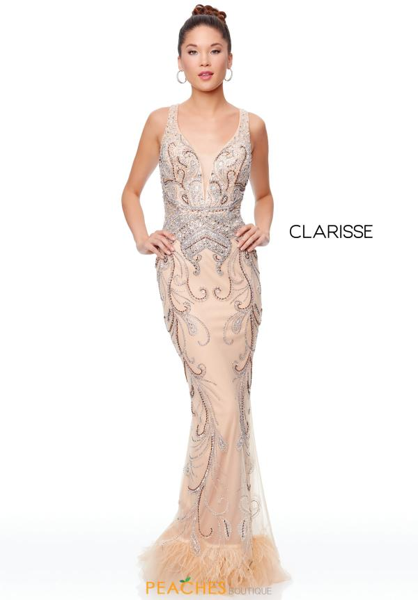 Clarisse V-Neck Beaded Dress 5034