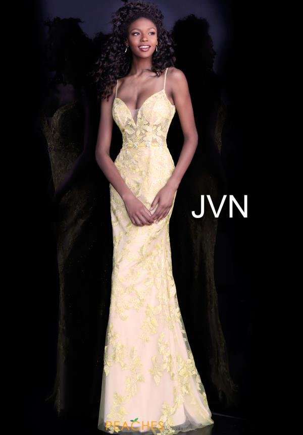JVN by Jovani Long Lace Dress JVN62330