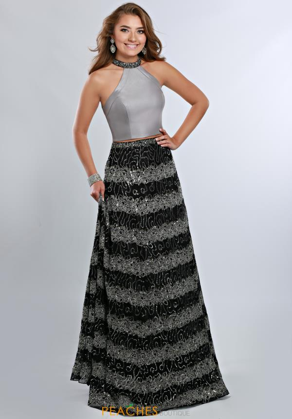 Ritzee Two Piece A Line Prom 1915