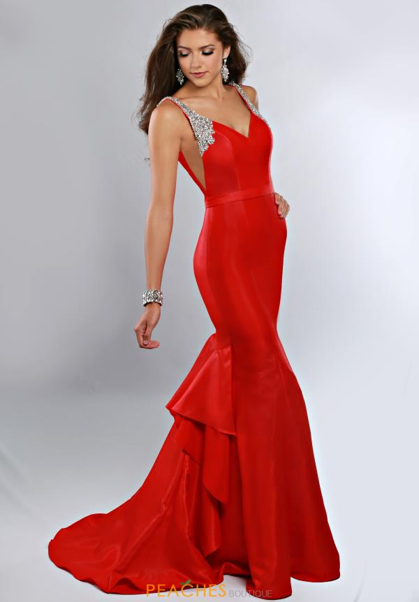 Ritzee Red Fitted Prom 1921
