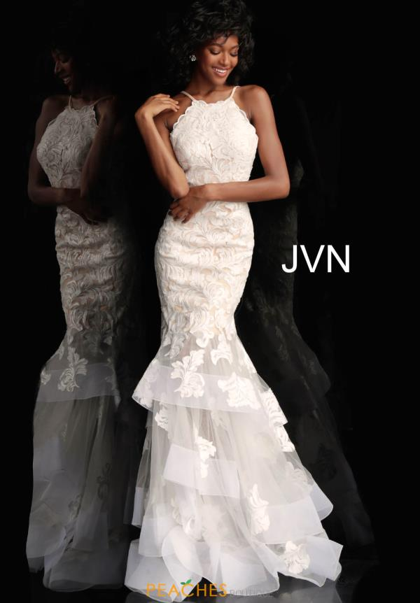 JVN by Jovani Long White Dress JVN55908