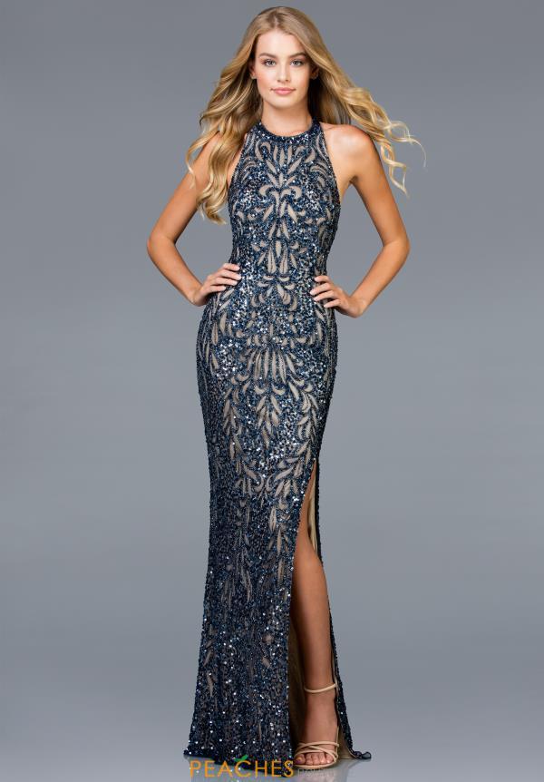 db07330c Scala Prom Dress 48831 | PeachesBoutique.com