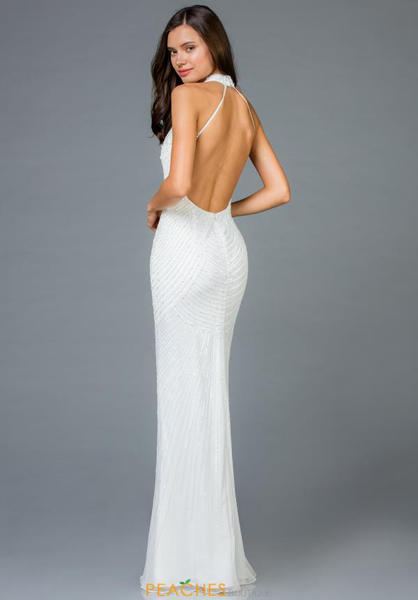 Scala Open Back Fitted Dress 48948