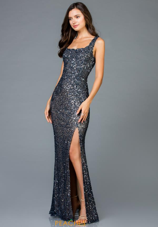 Scala Long Sequins Dress 48961