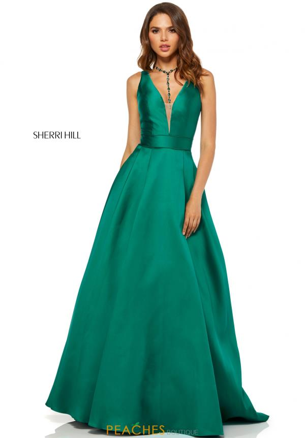 Sherri Hill Taffeta A Line Dress 52502