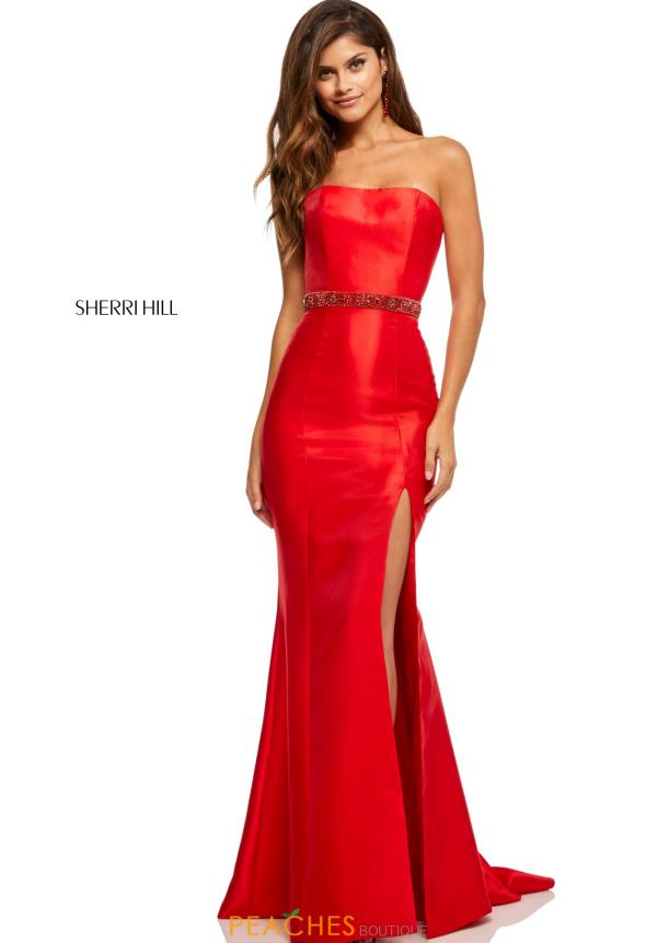 Sherri Hill Strapless Fitted Dress 52541