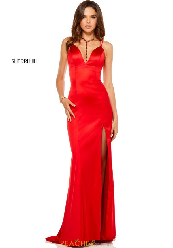 Sherri Hill V-Neck Fitted Dress 52548