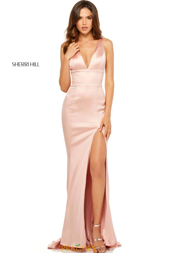 Sherri Hill Satin Fitted Dress 52549