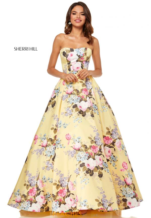 Sherri Hill Full Figured Strapless Dress 52553