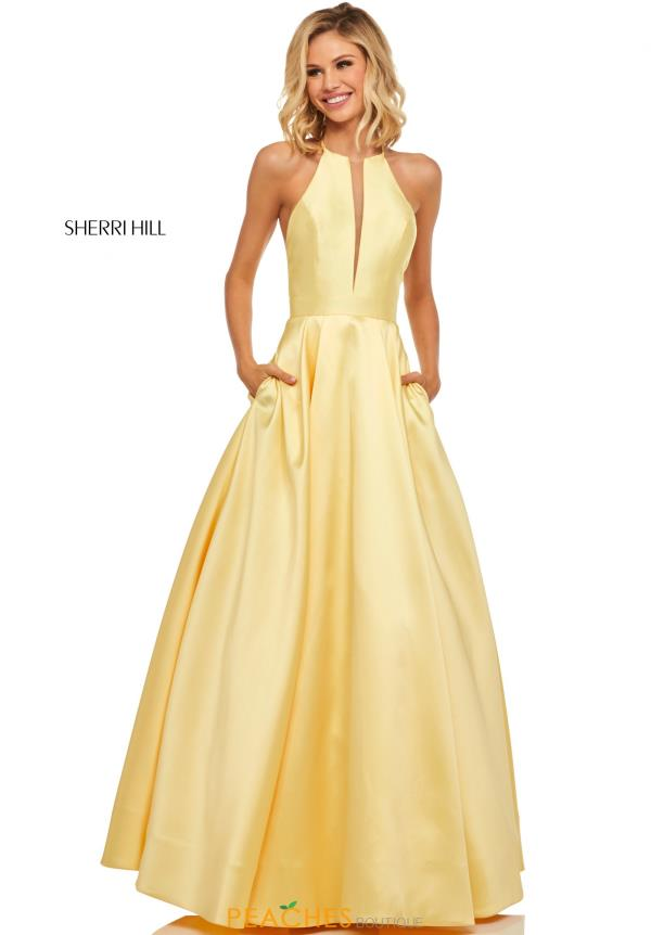 Sherri Hill A Line Taffeta Dress 52583