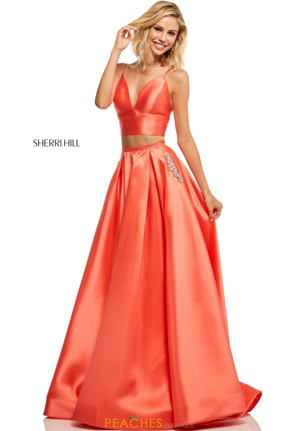 Sherri Hill Two Piece Beaded Dress 52598