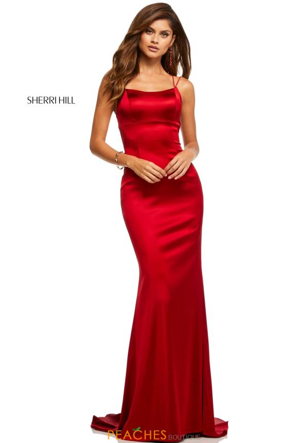 Sherri Hill Scoop Fitted Dress 52613