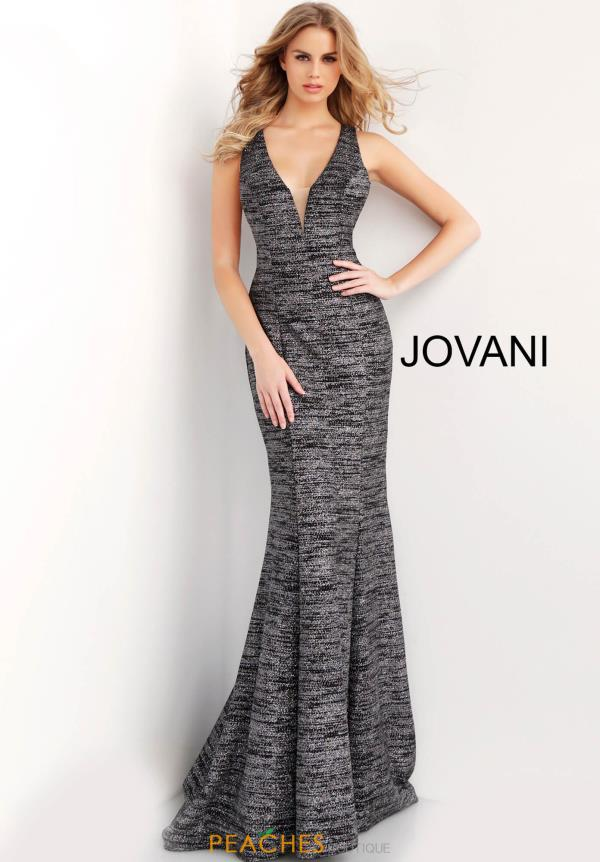 Jovani Open Back Fitted Dress 45811
