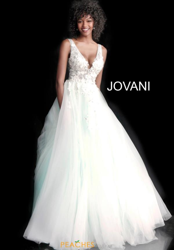 Jovani V- Neckline A Line Dress 55634
