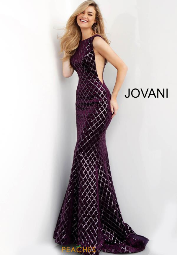 Jovani High Neckline Fitted Dress 63512