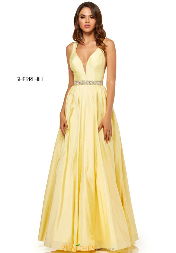 Sherri Hill A Line Beaded Dress 52414