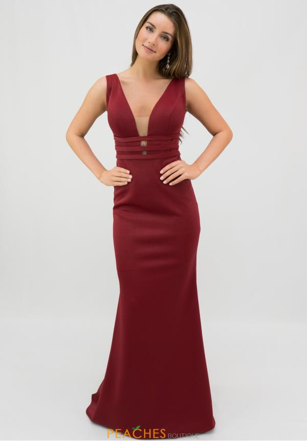 Tarik Ediz V-Neck Fitted Dress 50336