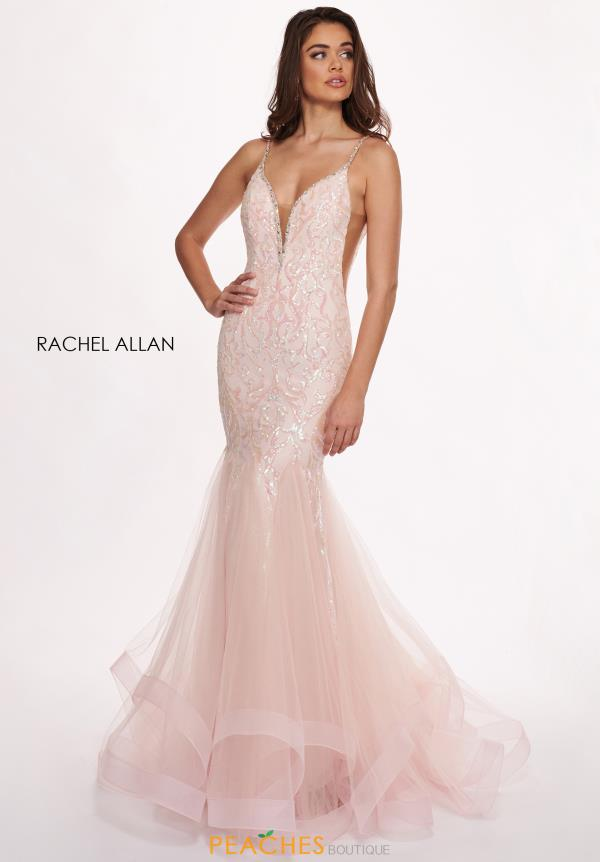 Rachel Allan Beaded Long Dress 6409