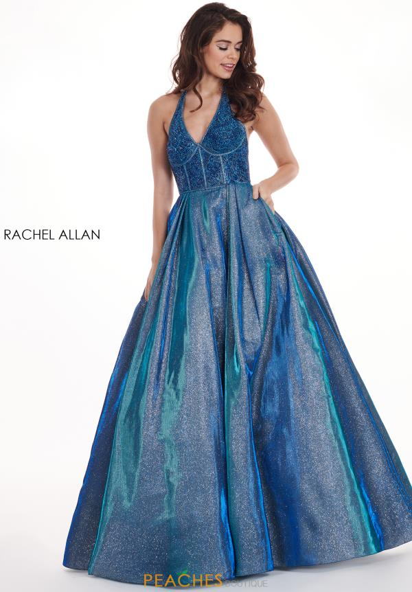Rachel Allan Halter Top A Line Dress 6414
