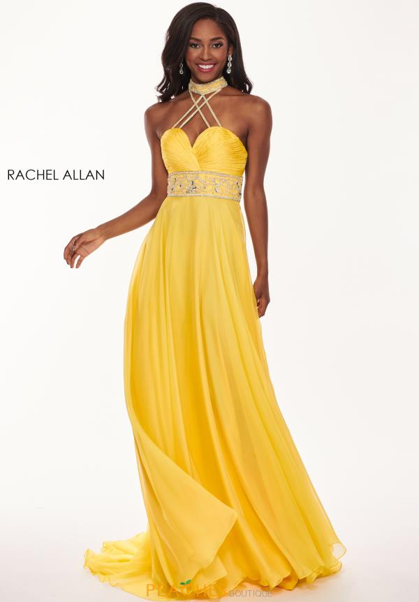 Rachel Allan Long Chiffon Dress 6421
