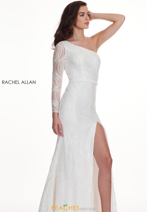 Rachel Allan One Sleeve Fitted Dress 6468