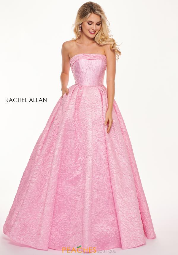 Rachel Allan Strapless A Line Dress 6490