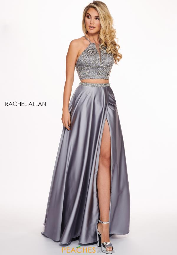 Rachel Allan Two Piece A Line Dress 6497
