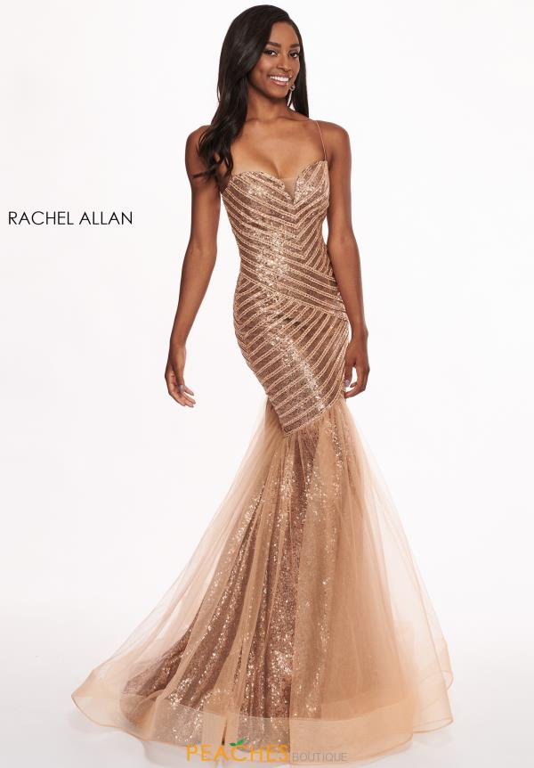 Rachel Allan Beaded Mermaid Dress 6513