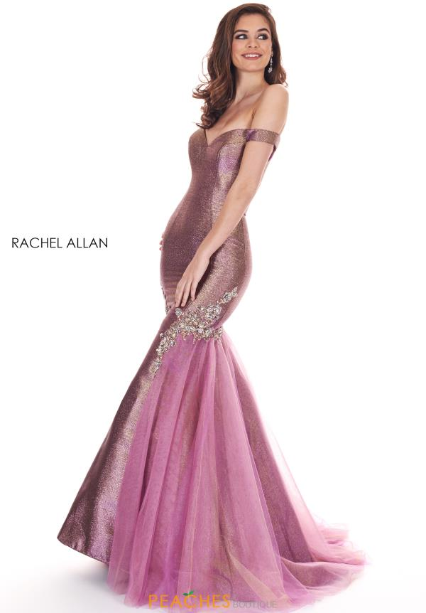 Rachel Allan Cap Sleeved Mermaid Dress 6518