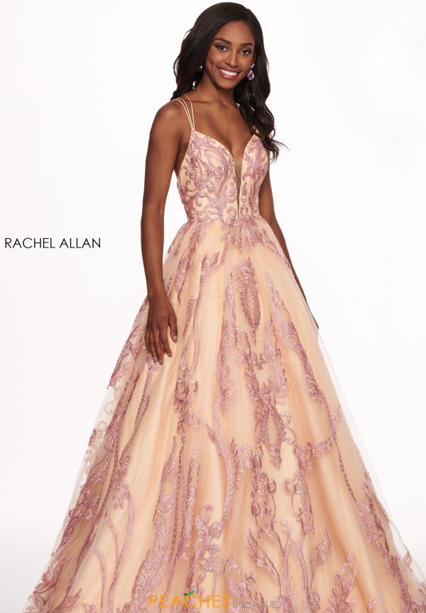 Rachel Allan Long Beaded Dress 6537