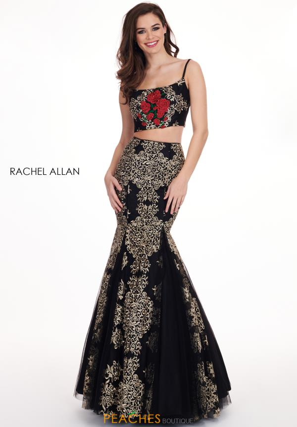 Rachel Allan Two Piece Black Dress 6560