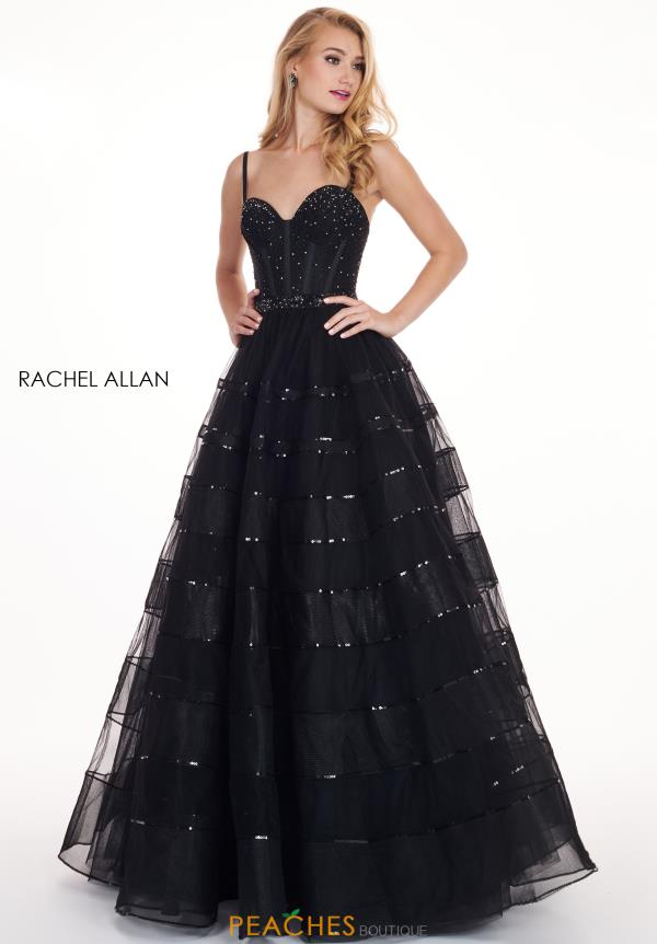 Rachel Allan Sweetheart Neckline A Line Dress 6576