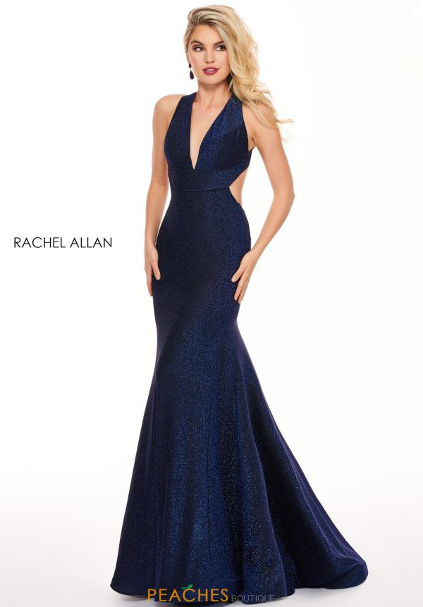 Rachel Allan Glitter Fitted Dress 6595