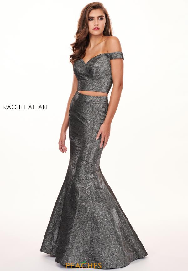 Rachel Allan Two Piece Off the Shoulder Mermaid Dress 6603