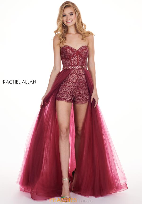 Rachel Allan Strapless High Low Romper 6618