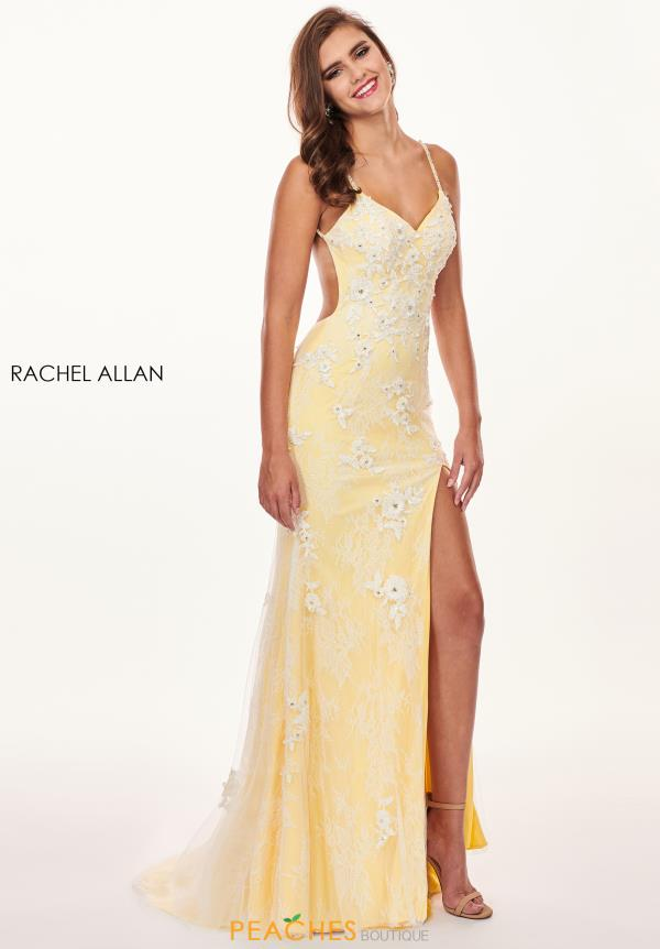 Rachel Allan Fitted Lace Dress 6640