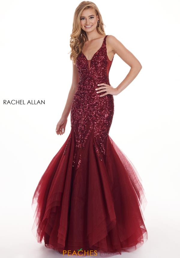 Rachel Allan Long Fitted Dress 6475