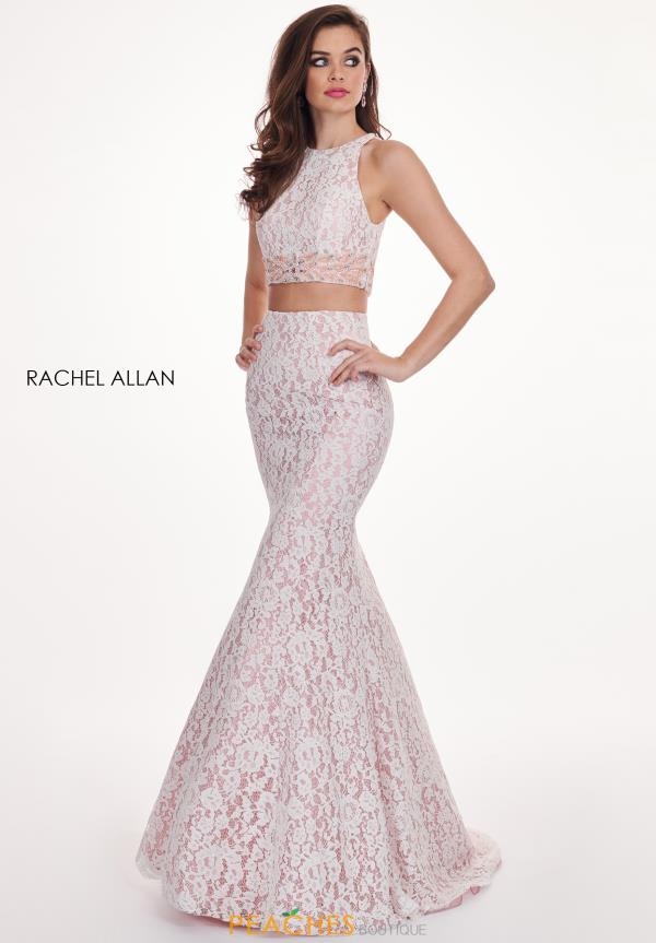 Rachel Allan Fitted Lace Dress 6578